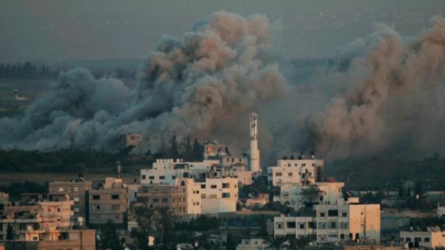 İsrail Gazze'ye hava saldırısı düzenledi…